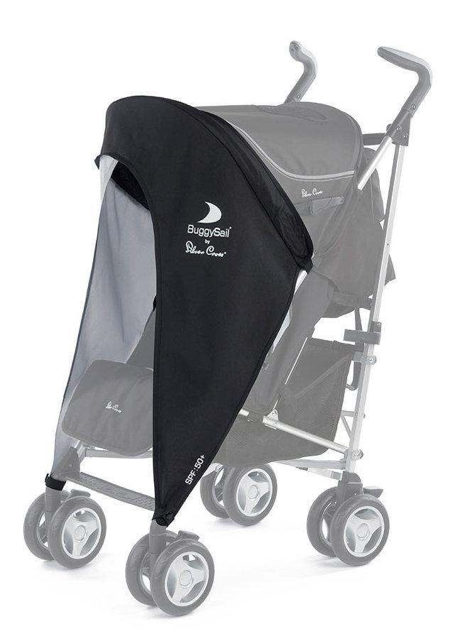 Silver Cross Buggy Sail Black Grey Baby Stroller Pushchair SPF 50 Sun Cover New