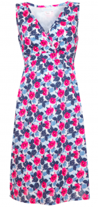 Fuchsia Floral Print Maternity Dress